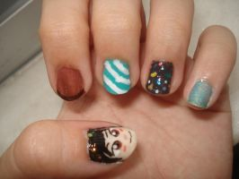 Vanellope Nails by Camilicks