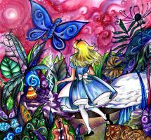 Alice and the Caterpillar by MitsouParker