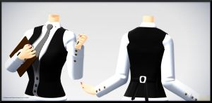 3 Button Vest- DL by MichiKairin