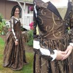 Late Tudor brown Taffeta gown by krswanson