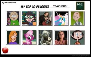 My Top 10 Favorite Teachers by SithVampireMaster27