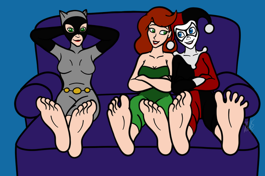-COM- Chillin with the Gotham City Sirens by AraghenXD