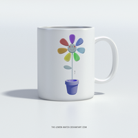 Rainbow Flower - Mug by THE-LEMON-WATCH