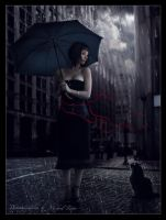 Rain in the city by Michael-Rayne