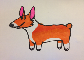 Corgi Doodle by coyotewinds