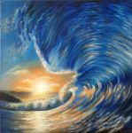 Ocean wave sunset by diana-0421