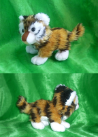 Fluffy tiger cub plush FIN by goiku