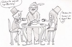Bigfoot Tea Party by AkatsukiFan1