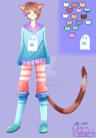 cute Pastel Neko boy 200 points (closed) by IsasADOPTABLES