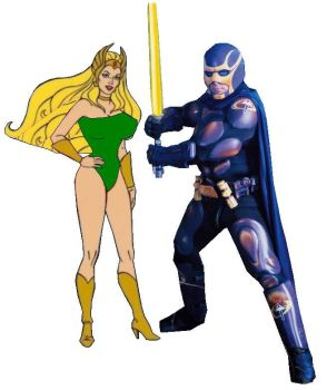 Bibleman and She Ra JPEG by EspioArtwork31