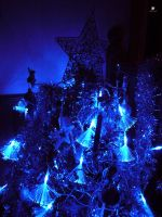 Blue Christmas Tree by caffeine2