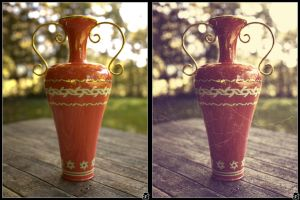 Vase - now and then by Furumaru