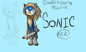 Sonic the Knight -doodle- by animeroxygirl
