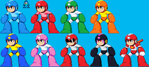 Random - All Megamans by Grim-Kun
