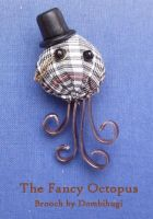 Fancy Steampunk Octopus Brooch by DombiHugi