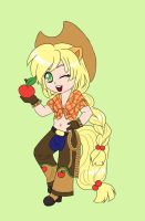 Chibi Applejack by ApocalypsePuppy