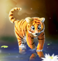 Baby tiger by alexism77