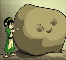 Toph's pet rock by Che-Crawford