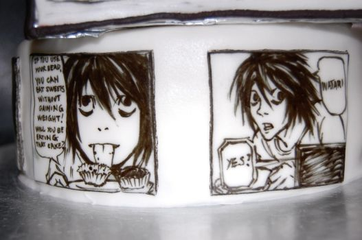 death note cake detail by sydney96