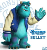 Sulley - Monster Inc. / University by Orange-mik