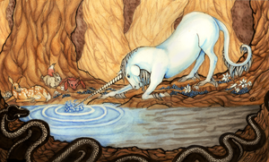 The Unicorn and the Lake by Clerical-Error
