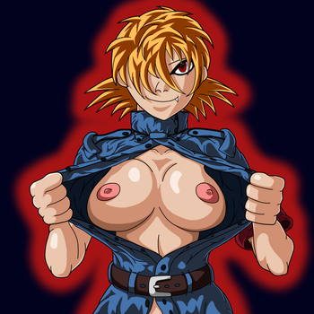 The Busty Blue Police Girl by Tzoli