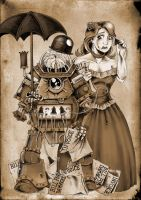 Steampunk Ro-Busters by DarkJimbo