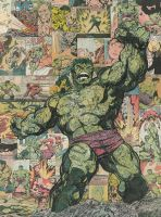 Incredible Hulk Comic Collage by flukiechic