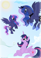 Mom! Look! I fly! by NightmareLunaFan