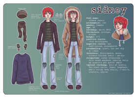 Sidney Character Reference Sheet by wick-y