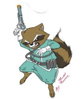Rocket Raccoon C by Arowscott