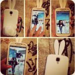 Bunny Ear Phone Case by LexCorp213