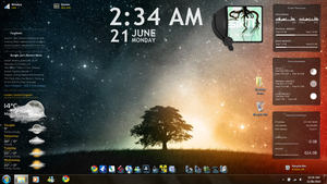 First Rainmeter desktop by TomRolfe
