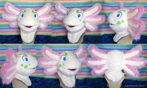 Axolotl Fursuit Head by LobitaWorks