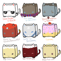 CubeCats: Custom Sheet 8 + adoptable cats SOLD by Sanza-tan