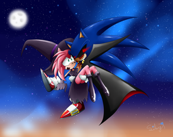 Halloween Sonamy 2014 by SweetSilvy