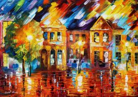 Rain of Emotions by Leonid Afremov by Leonidafremov