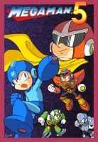 Mega Man 5 Box But Different by kenshinmeowth