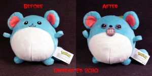 Pokemon Evil Marill plush Comp by Undead-Art