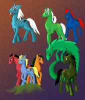 JCA villians ponified by TiElGar
