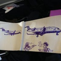 Drawing Contest while aboard plane by Oldirtymastered