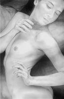 Drawing of 'Soul-at-Rest', photo by IckyLust by stevie-wydder