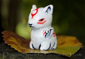 Okami Sculpy by DragonSpirit469