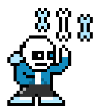 sans. Attacking  by Volgaria99