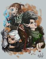 Dragon Age 2 Character Collage by calabacita
