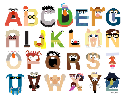 The Muppet Alphabet by mbaboon