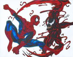 Spiderman Vs Carnage by MikeES