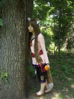 Holo by a Tree by crazedhobbit