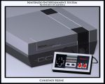 Nintendo Entertainment System by sinnedaria