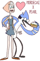 Mordecai X Pearl by CartoonNetwork957